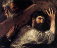 Tiziano Veccellio (Тициан) - Христос, несущий крест