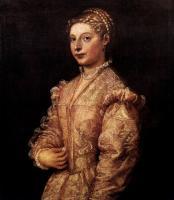 Tiziano Veccellio (Тициан) - Портрет девушки