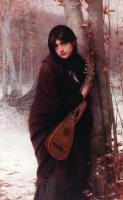 Портреты - Девушка с мандолиной
