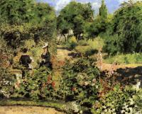 Pierre-Auguste Renoir - Сад в Фонтеней