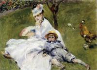 Pierre-Auguste Renoir - Мадам Моне в саду