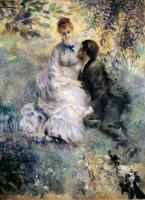 Pierre-Auguste Renoir - Пара, сидящая в саду