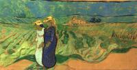 Van Gogh - Две женщины идущие в поле