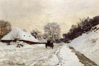 Claude Monet - Повозка на снежной дороге в Онфлёр