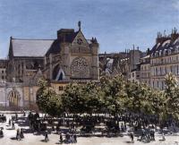Claude Monet - Церковь в Сен-Жермен-л'Оксеруа