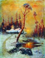 Klever Yuliy - Зимний пейзаж с соснами