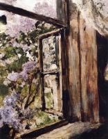 Цветы и натюрморты - картины художников прошлых веков - Открытое окно. Сирень