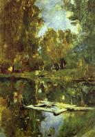 Пейзаж ( пейзажная живопись ) - Пруд в Абрамцево