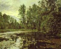 Пейзаж ( пейзажная живопись ) - Заросший пруд