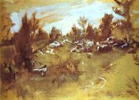 Пейзаж ( пейзажная живопись ) - Стадо.