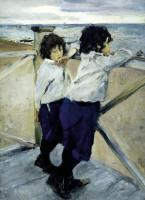 Портреты - Дети (Саша и Юра Серовы)