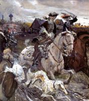 Исторические сюжеты в живописи - Пётр II и цесаревна Елизавета на псовой охоте