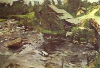 Пейзаж ( пейзажная живопись ) - Финская мельница