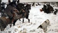 Исторические сюжеты в живописи - Пётр I на псовой охоте