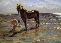 Пейзаж ( пейзажная живопись ) - Купание лошади