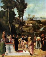Библейские сюжеты в живописи - Испытание Моисея огнем