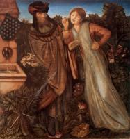 Edward Coley Burne-Jones - Король Марк и Изольда Прекрасная
