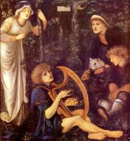 Edward Coley Burne-Jones - Безумие сэра Тристрама