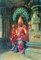 Архитектура - Статуя Вишну в храме Индры в Эллоре. Этюд