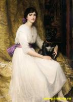 Dicksee, Sir Frank Bernard - портрет племянницы художника Дороти