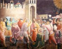 Учелло Паоло (Paolo Uccello) - Побивание камнями св. Стефана