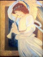 Edward Coley Burne-Jones - Ангел, играющий на флажолет