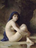 Картины ню, эротика в шедеврах живописи - Сидящаяся купальщица