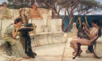 картина Сапфо и Алкей :: Альма-Тадема сэр Лоуренс