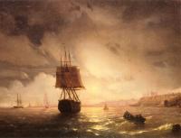 Море в живописи ( морские пейзажи, seascapes ) - Бухта в Одессе, Чёрное море