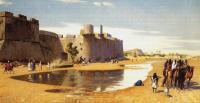 Арабский восток - Караван за стенами укреплённой крепости