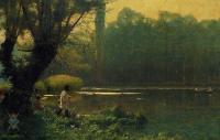 Пейзаж ( пейзажная живопись ) - Летний полдень на озере