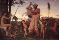 Античная мифология - Анакреон, Бахус и Купидон