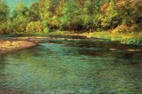 Пейзаж ( пейзажная живопись ) - Переливчатость мелкой речки