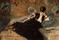 Edouard Manet - Женщина с веерами [Нина де Кальяс]