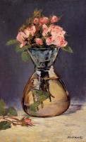 Цветы и натюрморты - картины художников прошлых веков - Букет роз в вазе