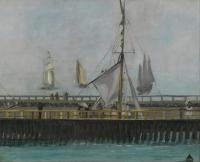 Edouard Manet - Пристань  в Булони