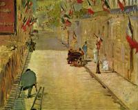 Edouard Manet - Улица Монье с флагами
