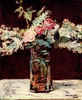 Edouard Manet - Натюрморт, сирень и розы