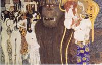 Gustav Klimt - Фриз Бетховена (деталь: враждебные силы)