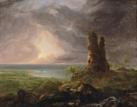 Архитектура - Романтический пезаж с руинами башни