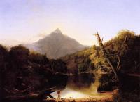 Пейзаж ( пейзажная живопись ) - Гора Чокоруа Нью Хэмпшир, америка