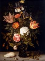 Цветы и натюрморты - картины художников прошлых веков - Натюрморт из Роз, Тюльпанов...