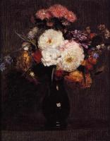 Натюрморт, цветы ( new ) - Георгины, Маргаритки Куинса, Розы и Васильки