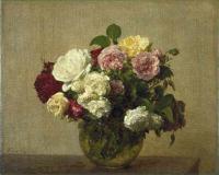 Цветы и натюрморты - картины художников прошлых веков - Розы