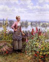 Цветы и натюрморты - картины художников прошлых веков - Мария на террасе со связками травы