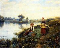 Романтические сюжеты в живописи - Мимолетная беседа