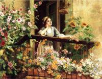 Цветы и натюрморты - картины художников прошлых веков - Волнующий момент