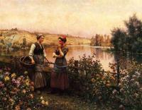 Цветы и натюрморты - картины художников прошлых веков - Остановка для разговора