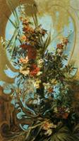 Цветы и натюрморты - картины художников прошлых веков - Натюрморт из разных цветов