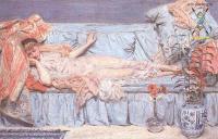 Цветы и натюрморты - картины художников прошлых веков - Спящая и лилии